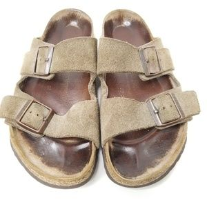 Birkenstocks Sandals 39 8 Brown Suede Leather